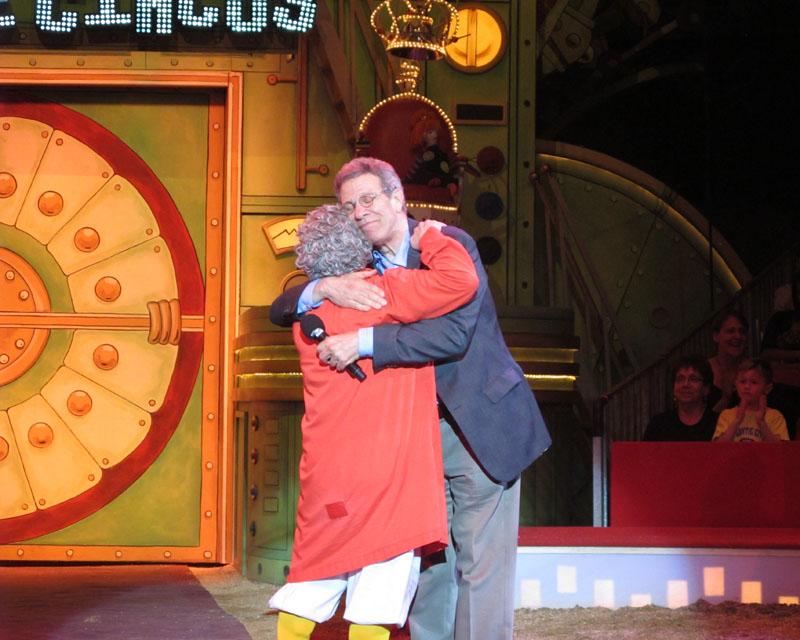 Paul Binder hugs Barry Lubin/Grandma