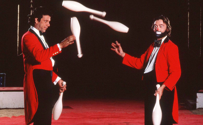 Paul and Michael in their earlier juggling days