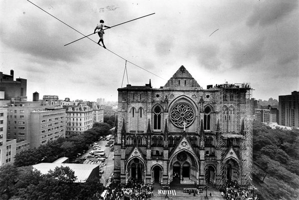Phoenix - Philippe Petit, photo by Fred R. Conrad