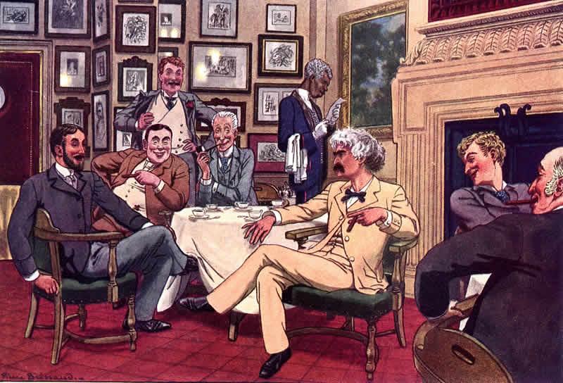 Lotos Club - Twain Illustration
