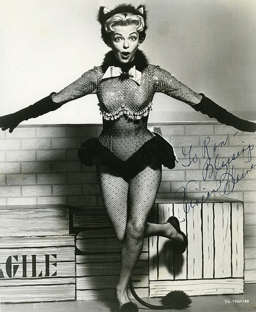 "Vivian Blaine from the 1955 film ""Guys and Dolls"""