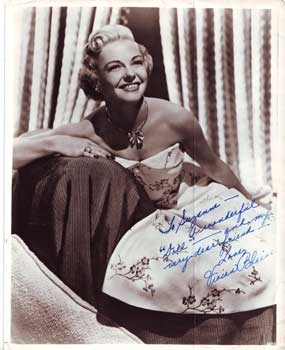 Vivian Blaine, the original Miss Adelaide in the Broadway, London, and film productions Photo from the Suzanne Thierry archives