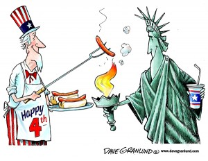 4th of July - cartoon 4
