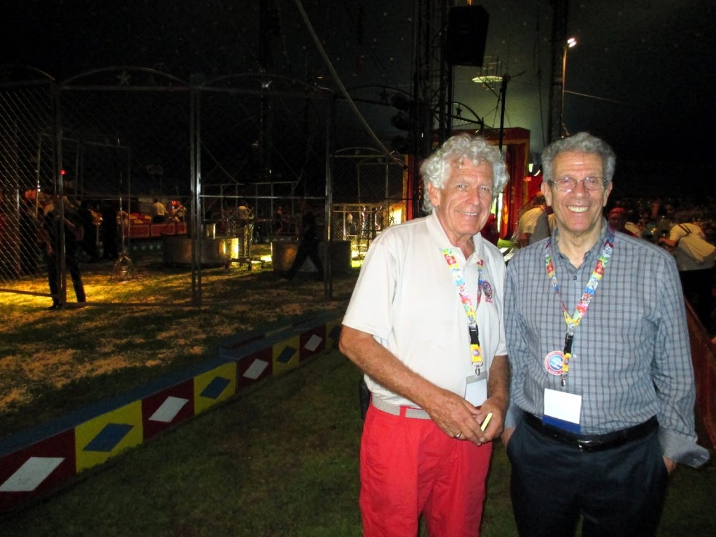 Standing alongside Brian Liddicoat (Worldwide Circus Summit Facilities, Logistics & Staging Director and former General Manager of the Big Apple Circus), Photo by Paul Gutheil