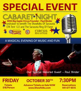 PB Blog, PB Risks His Life, Cabaret Night
