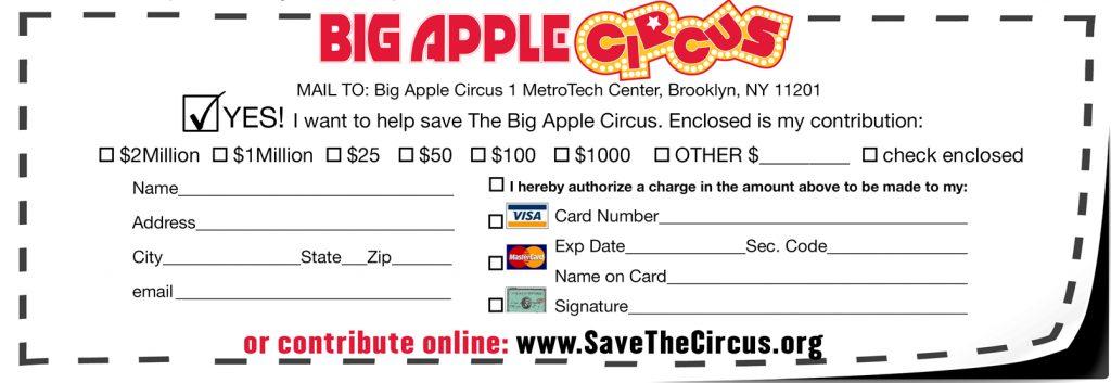 Save the Circus Mailer