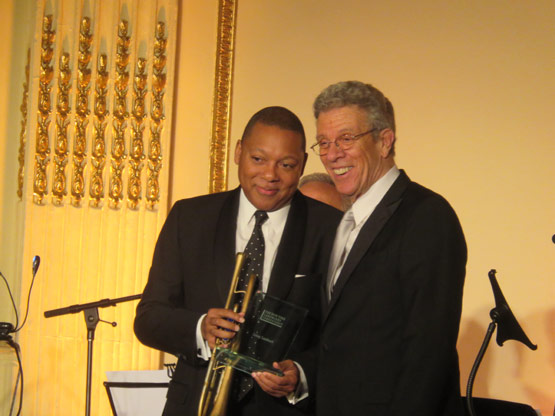 Me and the great jazz trumpet player Wynton Marsalis. Photo credit to New York Social Diary